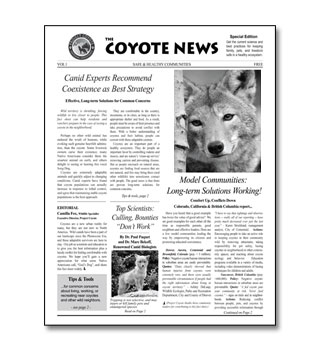 coyote News Factsheet